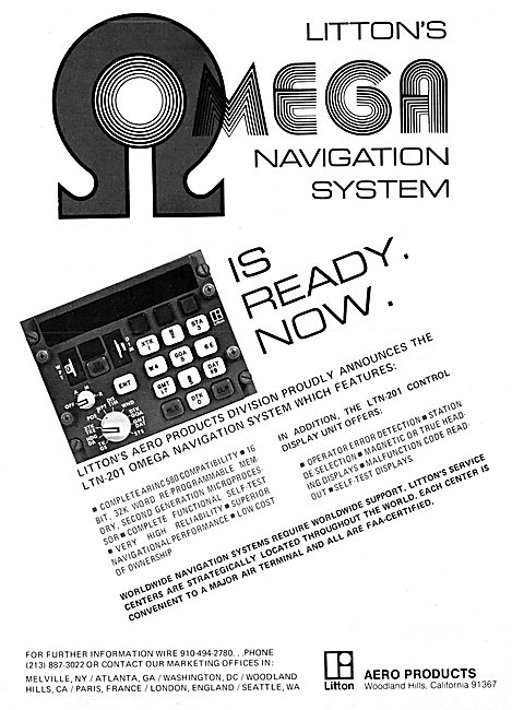 Litton Industries. Omega Navigation System