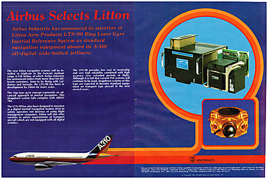 Litton LTN-90 Ring Laser Gyro INS Reference System 1980