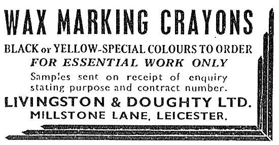 Livingstone & Doughty Wax Marking Crayons 1943