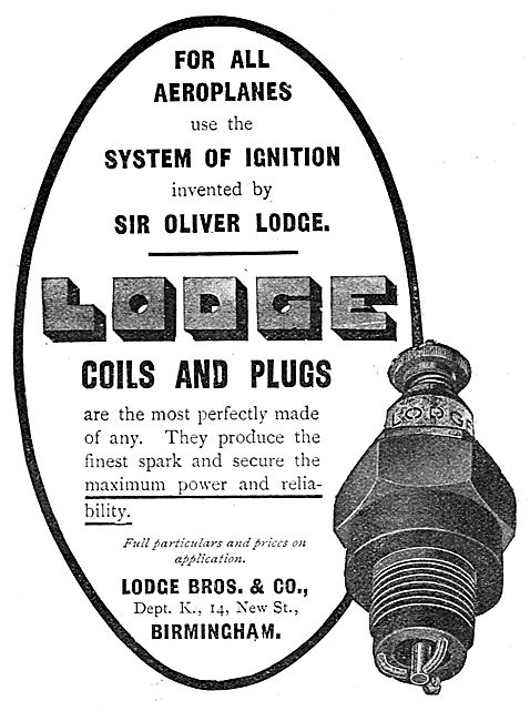 Lodge Sparking Plugs & Coils For Aircraft