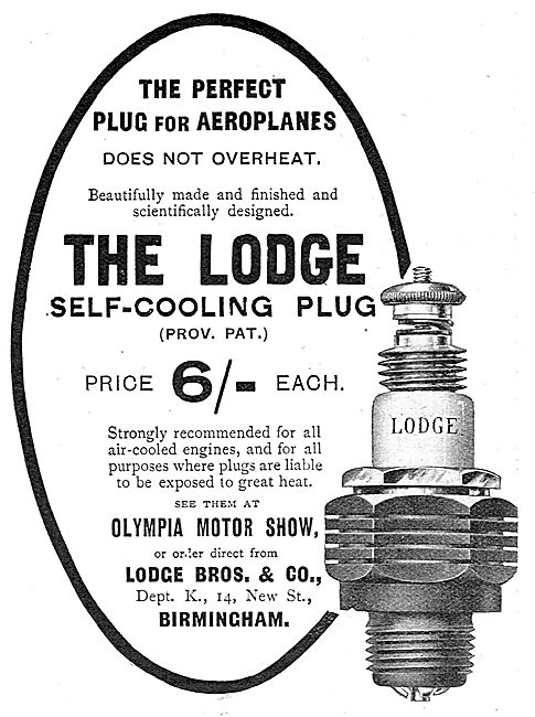 Lodge Sparking Plugs For Aircraft