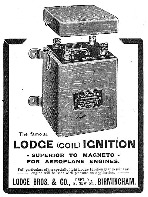 Lodge Coil Ignition For Aircraft