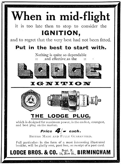 Lodge Sparking Plugs & Ignition Components