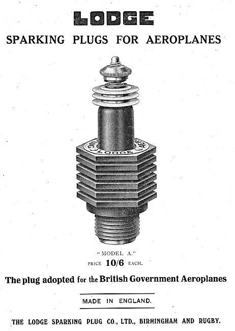 Lodge Model A Aviation Sparking Plug. Price 10/6 Each