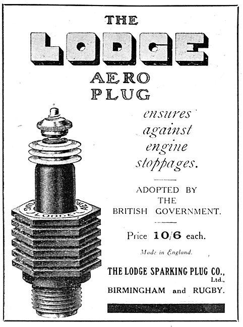 Lodge Aero Engine Sparking Plugs 1916