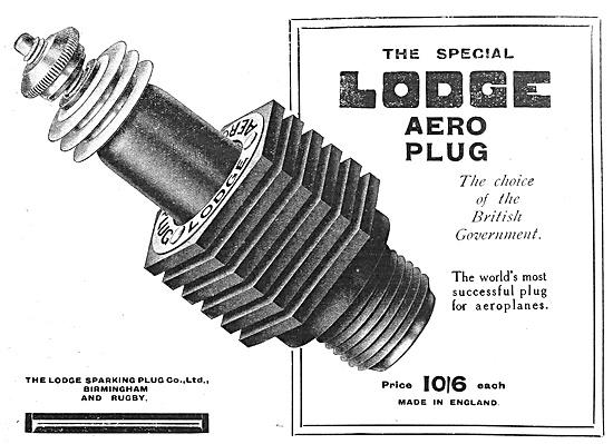 Lodge Sparking Plugs 1916