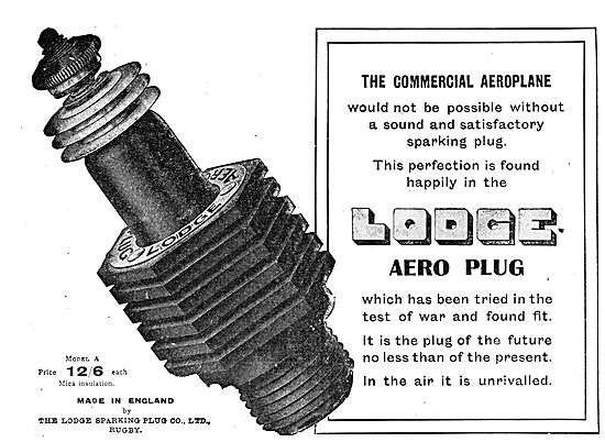 Lodge Aero Engine Sparking Plugs For Commercial Aeroplanes