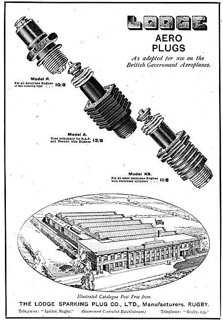 The Lodge Model R Aero Engine Sparking Plug
