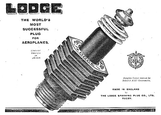 Lodge - The World's Most Successful Plug For Aeroplanes