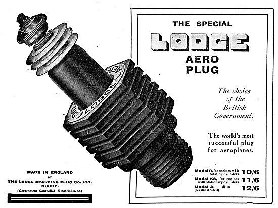 The Lodge Aero Plug. The Choice Of The British Government