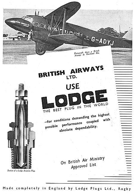 Lodge Aero Engine Sparking Plugs - British Airways