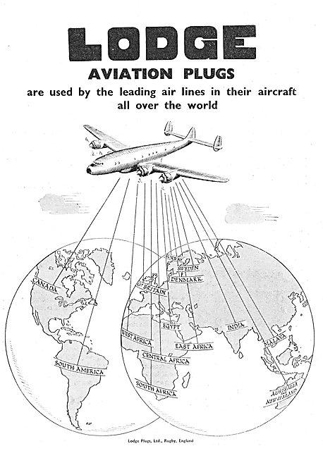 Lodge Aero Engine Sparking Plugs & Igniters 1949