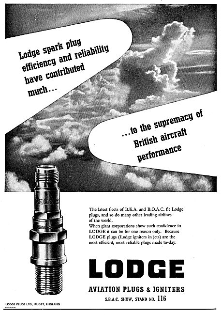 Lodge Spark Plug Efficiency Contributes To UK Aircraft Supremacy