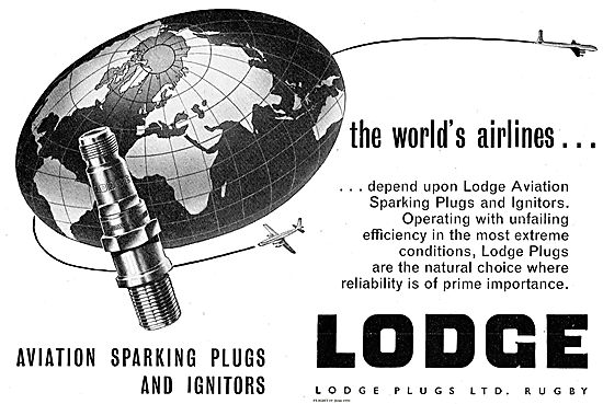 Lodge Sparking Plugs & Ignitors For Aircraft Engines