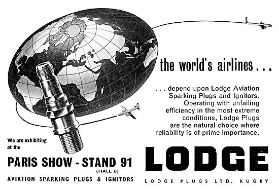 Lodge Sparking Plugs & Ignitors For Aircraft