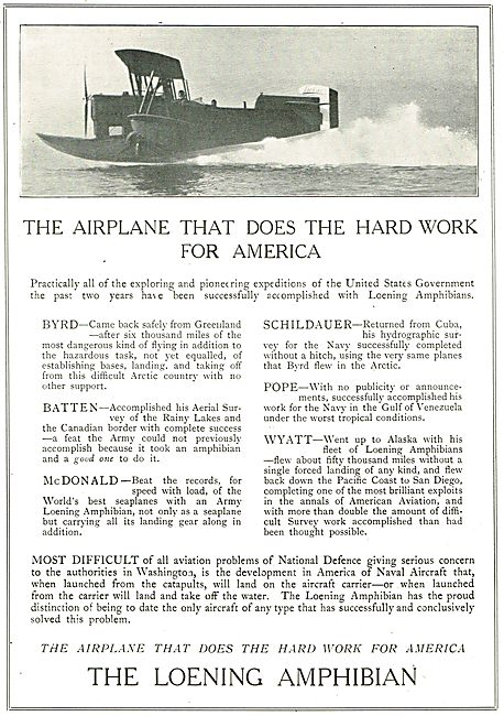 Loening Amphibian:The Plane The Does The Hard Work For America