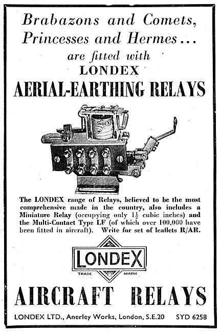Londex Aircraft Relays - Aerial-Earthing Relays