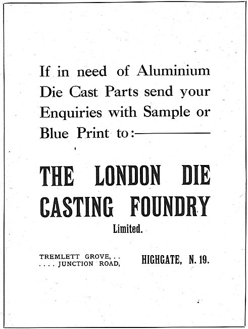 The London Die Casting Foundry For Aluminium Die Cast Parts