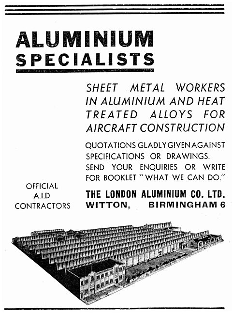 The London Aluminium Co Ltd - Witton. Birmingham