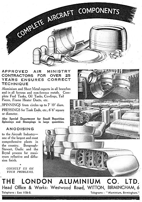 The London Aluminium Co Ltd - Aircraft Components