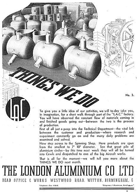 The London Aluminium Co : Aircraft Component Assemblies