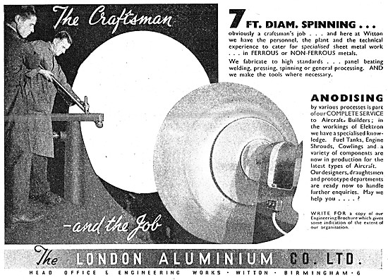London Aluminium Spinnings & Aircraft Components