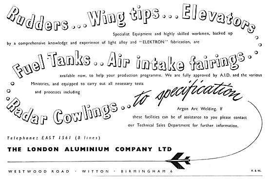 London Aluminium Aircraft Engineering & Sheet Metal Work