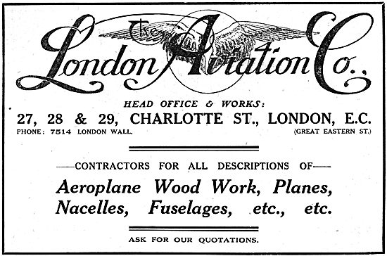 The London Aviation Co - Aircraft Component Manufacturers
