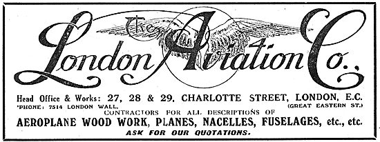 The London Aviation Co - Woodwork For Planes & Fuselages