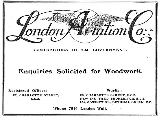 The London Aviation Co - Charlotte St. Aircraft Manufacturers
