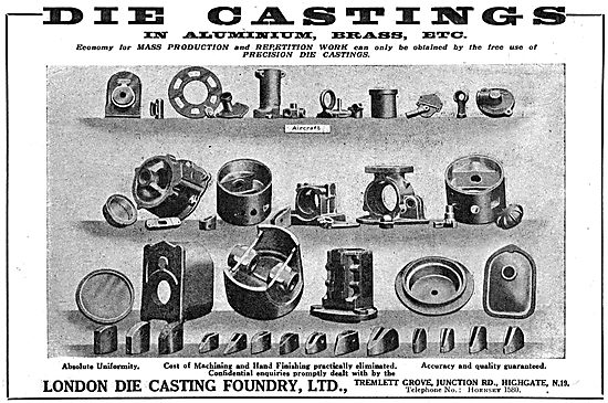 The London Die Casting Foundry For Precision Aero Castings