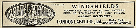 London Label Aircraft Windshields