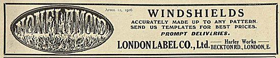 London Label Aircraft Windshields