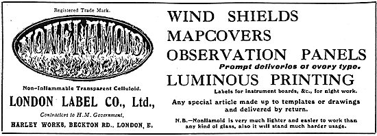 London Label Windshields, Map Covers & Observation Panels