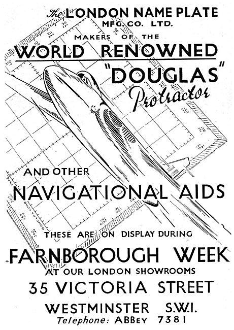London Name Plate Mfg Co: Douglas Protractor