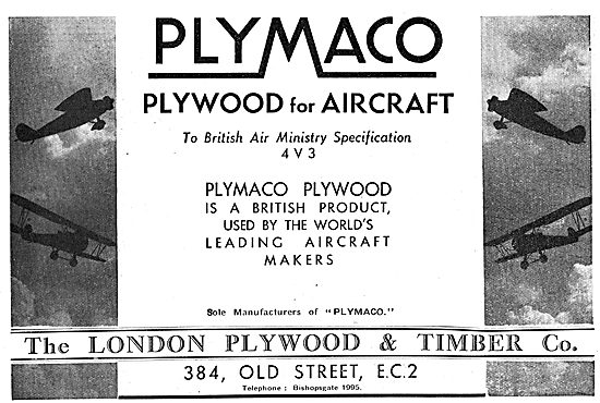 The London Plywood & Timber Co. Plywood For Aircraft