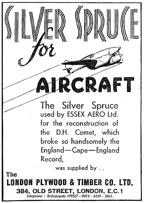 London Plywood & Timber Co. Siver Spruce For Aircraft