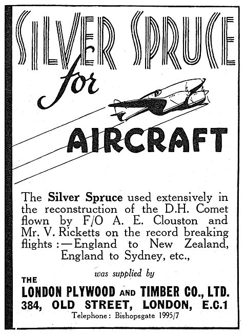 London Plywood & Timber Co. Aircraft Grade Silver Spruce