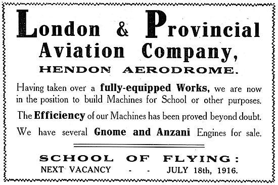 London & Provincial School Of Flying