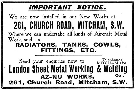 London Sheet Metal Working & Welding. AZ-NU Works. 21 Risinghill
