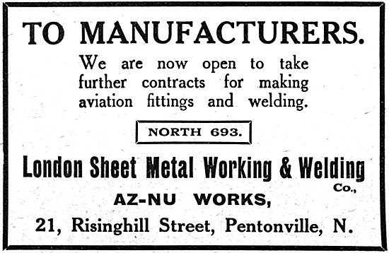 London Sheet Metal Working & Welding. AZ-NU Works. 21 Risinghill