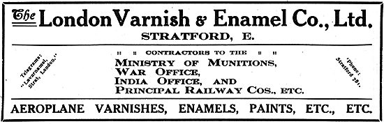 The London Varnish & Enamel - Paints, Varnishes Etc