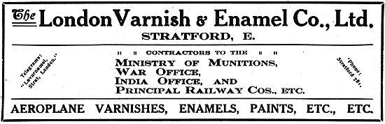 The London Varnish & Enamel - Paints, Varnishes Etc