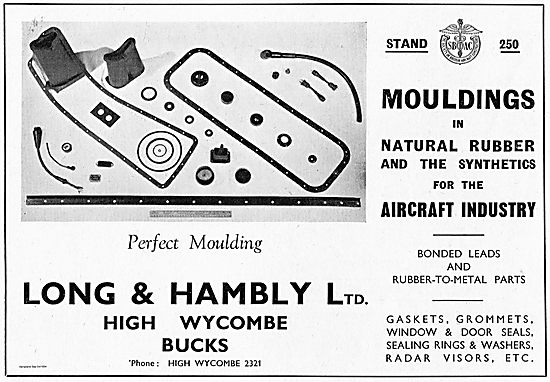 Long & Hambly Mouldings In Natural Rubber For Aircraft