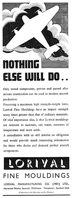 Lorival Mouldings For Aircraft Components 1937