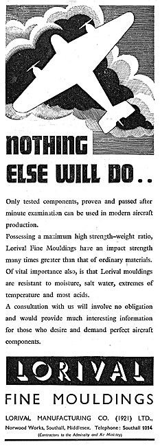 Lorival Mouldings For Aircraft Components