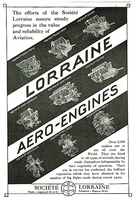 Ther Are Over 5,000 Lorraine Aero Engines In Use Over The World