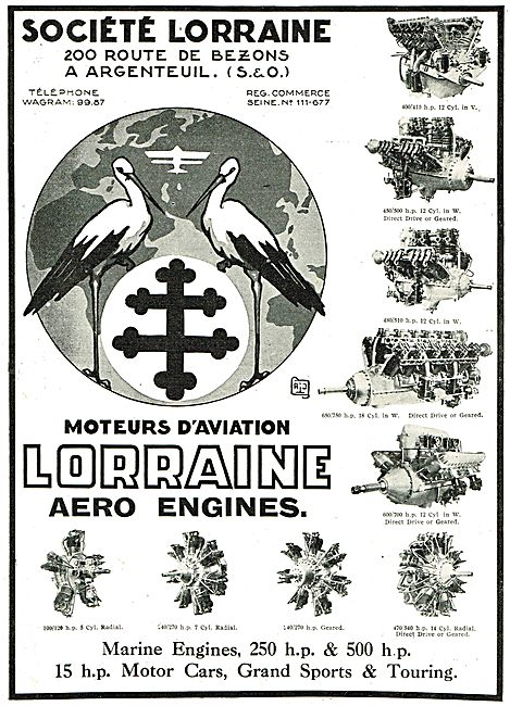 Lorraine Aero Engines - Current Range Of Engines