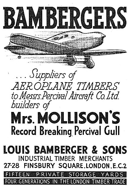 Louis Bamberger - Timber Suppliers To The Aircraft Industry