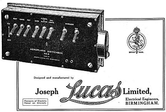 Lucas Aeroplane Electrical Switchbox No8. WW1 - 1918